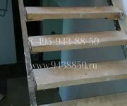 Облицовка металлической лестницы до (замер и проектирование)