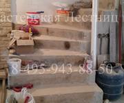 Облицовка бетонной лестницы деревом Коттеджный поселок «Западная Долина»
