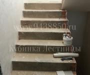 Облицовка бетонных лестниц в Кубинке деревом - производство деревянных ступений
