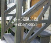 Деревянная лестница и крыльцо Осоргино Минское ш Одинцовски р-он