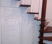 Облицовка металлической лестницы деревом (лиственница) КП Кембридже 28.2