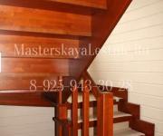 Деревянная лестница из лиственницы д Меры Истринский р-он п-образная на 180 с 2 площадками