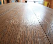 Стол из дуба в стиле лофт - метал дерево масло и воск