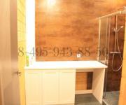 Мебель для ванной комнаты из дуба тонировка белый цвет индивидуальный проект