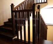 Деревянные лестницы из дуба коттеджный поселок Павлово деревня Веледниково, Истринский район