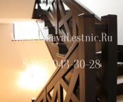 Облицовка металлической лестницы бук - ступени и ограждения бук Поздняково