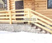 Уличное ограждение из дерева (лестничное ограждения) сосна