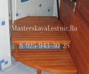 Лестницы в ванную комнату баню для сауны из натурального дерева