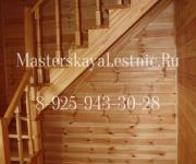 Деревянные лестницы на 90 без подступенков поселок Колюбакино Рузский район