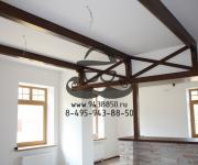 Деревянная (дуб) столешница арка декоративные балки из массива дуба
