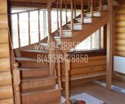 Деревянная лестницы из сосны и дуба - Можайск поселок Маяк