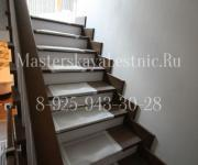 Облицовка лестницы лиственницей Зайцево