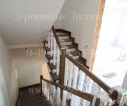 Облицовка лестницы до и после Зайцево Лиственница