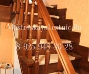 Облицовка металлической лестницы лиственницей
