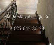 Облицовка бетонной лестницы дубом - Одинцово Родники