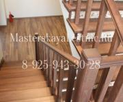Облицовка бетонной лестницы лиственницей Арендный Поселок Дарьино