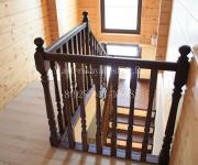 Облицовка бетонной лестницы деревом - сосна, город Тучково Московская область