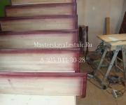 Лестницы из фанеры под облицовку массивом дерева