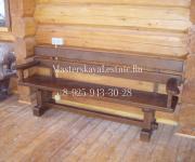 Скамья из сосны - изготовление мебели из сосны на заказ