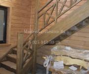 Деревянные лестницы из дуба коттеджный поселок Юбилейный Москва