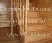 Деревянные лестницы из сосны и лиственницы деревня Супонево Одинцовский район