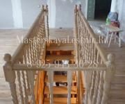 Деревянные лестницы из дуба - облицовка лестниц Деревянные лестницы из дуба коттеджный поселок Зелёная Роща Минское шоссе