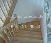 Деревянные лестницы из лиственницы деревня Котово Истринский район