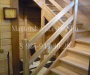 Деревянные лестницы из дуба деревня Шемякино Солнечногорский район Ленинградское шоссе
