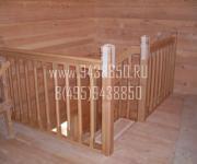 Деревянные лестницы из сосны Лайково