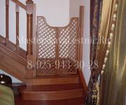Деревянные лестницы из дуба Коттеджный поселок Сосновый Бор Одинцовский район