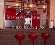 Барная стойка для кухня и гостинной изготовленная из дуба