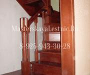 """Фотография деревянные лестницы из бука ТСЖ """"Княжичи"""" Одинцово"""