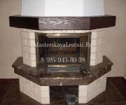 Дизайн камина - балки обрамление - балки и мебель в интерьере из натурального дерева