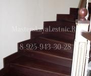 Облицовка спиральной бетонной лестницы дубом Заречье