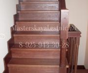 Деревянные лестницы из дуба коттеджный поселок Княжичи Одинцово