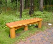 Скамья лиственница - мебель из лиственницы для улицы на заказ