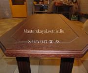 Стол из дуба выполненный на заказ и тонированный размер 1000мм на 600мм